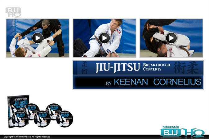 Keenan Cornelius Breakthrough Jiu Jitsu Concepts 5 DVD set